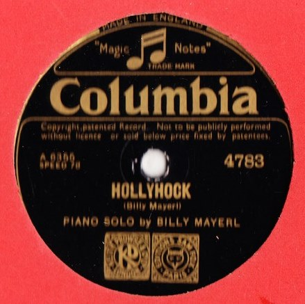 Billy Mayerl - Marigold / Hollyhock - Columbia 4783